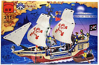 Конструктор 311 Пиратский корабль, шхуна пиратов, Brick, 487 деталей