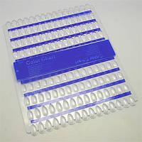 Планшет для образцов дизайна ногтей YRE PO-24, синий на 120 цветов, палитра для лака, планшеты для демонстрации образцов лака