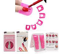 Пластиковая защита для кутикулы YRE PZ-K, в наборе 26 шт, наклейки для защиты кожи вокруг ногтя, форма -  наклейка для кутикулы, защита для кутикулы