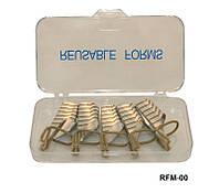 Форма для наращивания ногтей YRE RFM-00 тефлоновая многоразовая, форма для ногтей, форма-наклейка для наращивания, наращивание ногтей с помощью форм