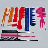 Набор гребней Maple ТН-110-5 (Цена за 10 шт.), пластиковые, цветные, Гребень для волос