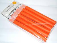 Бигуди папильотки с липучкой для создания локонов snowdrop PPL-13 размер 240x22mm (Цена за 6 шт.), поролоновые, оранжевые, бигуди для волос