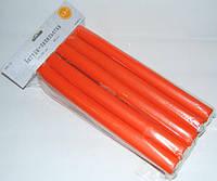 Бигуди папильотки для создания локонов marigold PPL-02 размер 235x20 mm  (Цена за 10 шт.), поролоновые, красные, бигуди для волос
