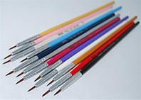 Набор кистей для росписи ногтей YRE NKR-0#, цена за 12 шт, кисть для рисования, кисть для китайской росписи, кисточка для росписи ногтей