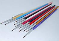 Набор кистей для росписи ногтей YRE NKR-00#, цена за 12 шт, кисть для рисования, кисть для китайской росписи, кисточка для росписи ногтей