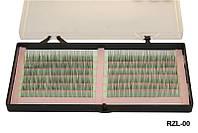 Ресницы для наращивания одинарные на зеленой ленте YRE RZL-00 (0,15-12 мм), реснички для наращивания, наращивание ресничек, нарощенные ресницы