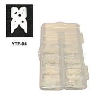Типсы для наращивания ногтей YRE YTF-04 френч-бабочки, 100 шт в уп, профессиональные типсы для наращивания, типсы для ногтей