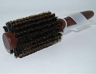 Расчёчка для волос Magnolia d20 щётка, круглая, диаметр 20 мм, натуральная, красная, пластмассовая, Расчёски для волос