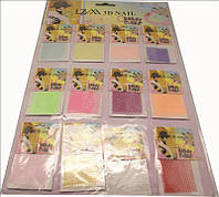 Сетка для декора ногтей разноцветная, декор YRE DK-43, 12 шт, сетка для ногтей, материалы для дизайна ногтей, все для дизайна ногтей, декор на ногтях