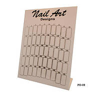 Планшет для образцов дизайна ногтей YRE PO-08, черно-белый, на 50 цветов, палитра для лака, планшеты для демонстрации образцов лака