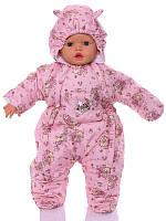 Демисезонный комбинезон для новорожденного (0-6 месяцев) Розовая мышка