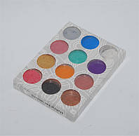 Песок цветной для дизайна ногтей YRE NMB-12P, микро - блестки, 12 цв в наборе, песок для дизайна ногтей, декор ногтей, песочный маникюр,глитер-песок
