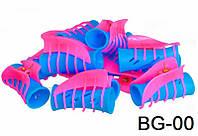 Бигуди Краб для создания локонов carnation BG-00 ( Цена за 12 шт.), цветные, пластиковые, бигуди для волос