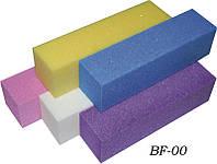 Баф для коррекции формя ногтей YRE BF-00, 4-х стороний, цветной, цена за 10 шт, бафик для корекции ногтей, бафы для коррекции, коррекция ногтей бафом