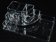 Органайзер для косметики SF-1118, акриловый, бесцветный, подставка для косметики, подставка под кисти, косметические принадлежности, оборудование