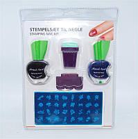 Набор для нанесения рисунков на ногти (стемпинга) YRE PSK-00 с краской, Стемпинг, Наборы для стемпинга, Стемпинг для дизайна ногтей