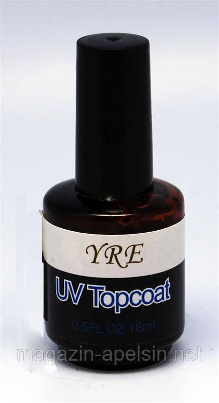 """Верхнее покрытие для гель-лака YRE UVF-01 (Top Coat) с кисточкой 18 мл, финишное покрытие, финиш, гель-финиш - интернет-магазин """"Апельсин"""" в Одессе"""