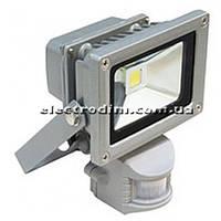 Прожектор LED 10w 6500K IP44 1LED LEMANSO серый с датчиком / LMPS10