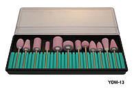 Набор насадок для фрезера YRE YDM-13, кол-во 12 шт (камень), насадка для фрезера, аппаратный маникюр, фрезер для маникюра