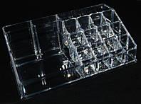 Органайзер для косметики SF-1029, акриловый, бесцветный, органайзер для мастеров маникюра, все для маникюра, контейнера для бижутерии, органайзер