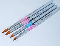 Набор кистей для моделирования акрилом YRE В-39, складные, цена за 4 шт, кисть для росписи ногтей, кисть для моделирования, кисть для дизайна