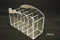 Подставки для кистей и пилок Cyclamen, бесцветный, подставка для пилочек, органайзеры и полезные мелочи,  подставка для маникюрных принадлежностей