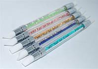 Набор силиконовых кистей для моделирования YRE NSKG-02, цена за 5 шт, кисти для моделирования, кисть для гелевого и акрилового моделирования