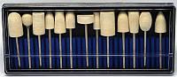 Набор насадок для фрезера YRE YDM-15, кол-во 13 шт (войлок), насадка для фрезера, аппаратный маникюр, фрезер для маникюра