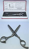 Ножницы для филирования волос YRE NJ-03, в коробке, двусторонние, из стали, серебристые, Парикмахерские ножницы