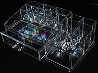 Органайзер для косметики SF-20142, акриловый, бесцветный, подставка для косметики, подставка под помады, косметические принадлежности, материалы для