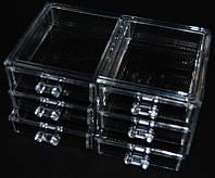 Трехярусный контейнер для бижутерии SF-1005-5, акриловый, бесцветный, подставка для хранения косметики, контейнер для украшений, маникюрные