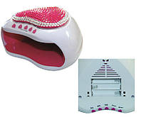 LED Лампа для ногтей Bluebell, бело-розовый, мощность 6W, со стразами, лампа для сушки ногтей, лампа для наращивания ногтей, лампа для маникюра