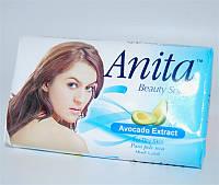 Туалетное мыло для тела Anita, с экстрактом авокадо, вес 80 г, упаковке 72 шт, гигиена, бытовая химия, туалетных, мыло для рук, твердое мыло, мыло