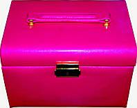 Кейс для косметики и украшений раскладной KS-005, розовый, Бьюти кейс