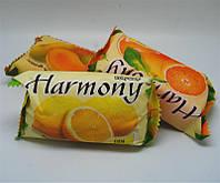 Фруктовое мыло Harmony для тела, лемон, вес 150г, в  упаковке 48 шт, гигиена, бытовая химия, туалетных, мыло для рук, твердое мыло, мыло для ног