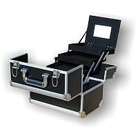 Чемодан для инструментов раздвижной 740С черный, металлический, Металлический чемодан