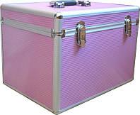 Чемодан для инструментов раздвижной CH-2270, металлический, розовый, Металлический чемодан
