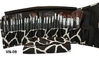 Набор для макияжа YRE VN-09 (25 кистей), кисть визажная, кисть для визажа, кисть для нанесения макияжа, макияжная кисть, набор кисточек макияжных