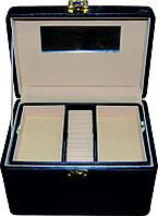 Кейс для косметики и украшений раскладной KS-046, чёрный, Бьюти кейс
