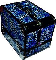 Чемодан для инструментов раздвижной Сase CM-2318, металлический, синий, с Металлический чемоданринтом, Металлический чемодан