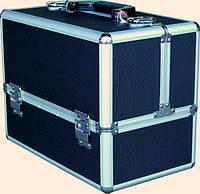 Чемодан для инструментов раздвижной Сase CM-338, металлический, синий, Металлический чемодан