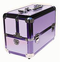 Чемодан для инструментов раздвижной Сase 109 металлический, сиреневый, Металлический чемодан