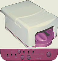 UV Лампа для гелевого наращивания бело-розовый, мощность 45W, таймер (120,180,300 сек), таймер бесконечности, зеркальные отражатели,  УФ-лампы для