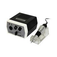 Фрезер для маникюра и педикюра JD-400, черный, мощность 35W, в минуту 30000 оборотов, регулятор, ручной и ножной режим, 6 насадок,