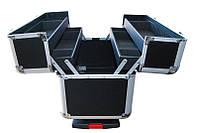 Чемодан раскладной на колесах CMNK-741, чёрный, металлический корпус, Чемодан