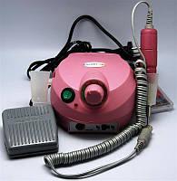 Фрезер для маникюра и педикюра ESCORT, розовый, мощность 30W , в минуту до 40000 оборотов, педаль, 6 насадок, питание 50Гц, встроенный предохранитель