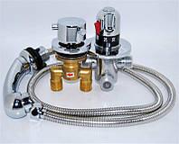 Cмеситель для парикмахерских моек Mixer 8091A, термостатический, Рабочее давление: 0.05 - 0.7 МПа Рабочая температура: 1 - 45 °С Материал смесителя: