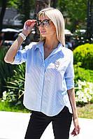 """Хлопковая женская рубашка """"Hitter"""" с брошью и длинным рукавом (4 цвета)"""