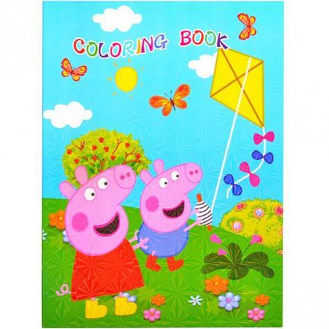Розмальовка А4 з наклейками «Свинка Пеппа 3» LHA 1064, фото 2