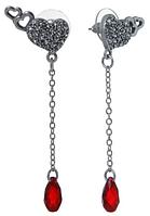 """Пуссеты """"Цитра"""" с кристаллами Swarovski, покрытые серебром (j5313870)"""